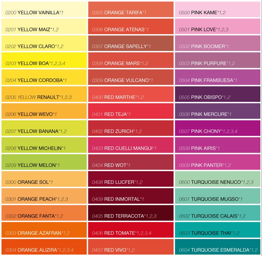 Daycolors Distribution Colorchart